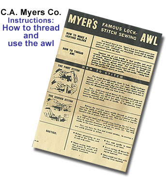 Our History Awl For All From Ca Myers Co